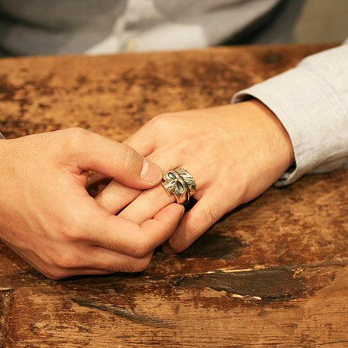 指輪 / ハーフスカル × ハーフフェザーリング