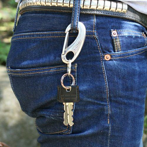 【JAM HOME MADE(ジャムホームメイド)】ビッグワン -MIDDLE- メンズ シルバー 925 鍵 強度 キーホルダー ブランド キーリング アクセリー フック ベルト おすすめ