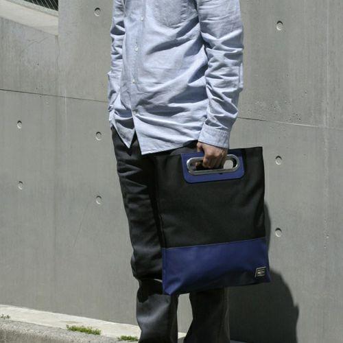 【JAM HOME MADE(ジャムホームメイド)】WEB限定 ポーター/PORTER 3WAYクラッチバッグ -CONCHO-  メンズ レディース ユニセックス ショルダー ボディ メッセンジャー コーデュラ PVC 旅行 ブラック ネイビー