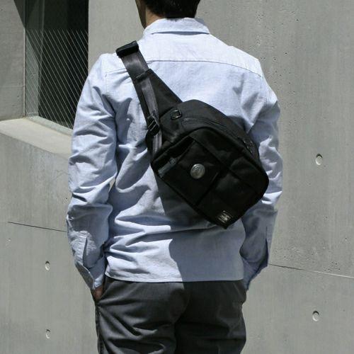 【JAM HOME MADE(ジャムホームメイド)】ポーター/PORTER ボディバッグ -CONCHO- メンズ レディース ユニセックス ショルダー ボディ メッセンジャー コーデュラ PVC 旅行 ブラック