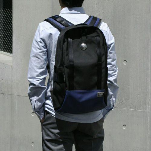 【JAM HOME MADE(ジャムホームメイド)】WEB限定 ポーター/PORTER バックパック メンズ PVC コーデュラ リュック バックパック ブラック ネイビー 旅行