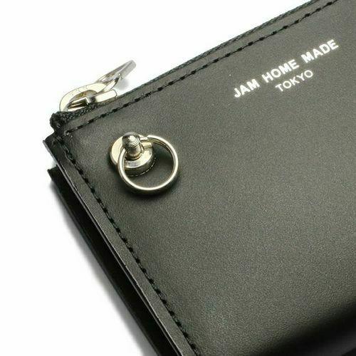 【JAM HOME MADE(ジャムホームメイド)】沖嶋 信 - SO (Shin Okishima) MODEL - ウォレット -ATTACHMENT- / ミニウォレット メンズ レザー ブラック 人気 おすすめ 薄型 プレゼント ギフト 小銭入れ ウォレットチェーン L字