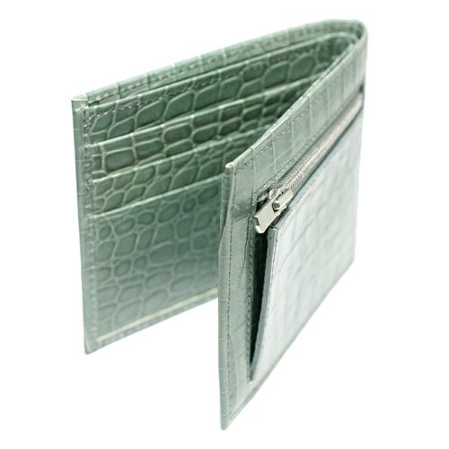 二つ折り財布 / 'sensitive'ミディアムウォレット -ICE GRAY (Croco Emboss)-