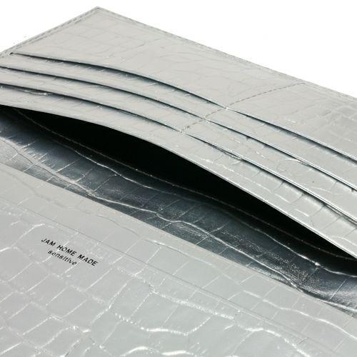 長財布 / 'sensitive' ロングウォレット -Silver (Croco Emboss)-
