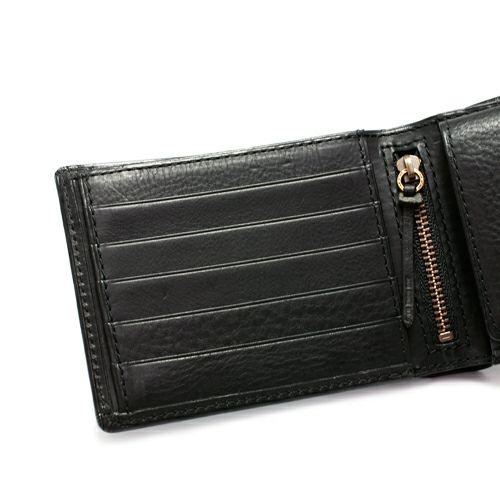 二つ折り財布 / ミディアムウォレット -BLACK-
