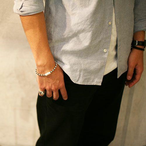 【JAM HOME MADE(ジャムホームメイド)】B型 ボールチェーンブレスレット -NEW TYPE- メンズ レディース ペア シルバー 925 シンプル おすすめ ブランド 人気 プレゼント ギフト ペア ダイヤモンド 血液型 サイズ調整