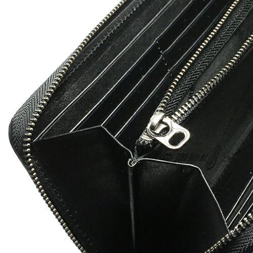 【JAM HOME MADE(ジャムホームメイド)】BLACK DIAMOND キルティングファスナーロングウォレット / 長財布 メンズ レディース ブランド 人気 おすすめ 使い始め レザー/革 カーフ ブラック お手入れ シンプル プレゼント ギフト 誕生日 誕生石 ウォレットチェーン