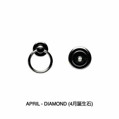 【JAM HOME MADE(ジャムホームメイド)】4月 誕生石 ダイヤモンド ファスナーミディアムウォレット -LaVish- / 二つ折り財布 メンズ ユニセックス ブランド 人気 おすすめ 使い始め 牛革 ブラック ヌメ革 シンプル プレゼント ギフト 誕生日 ウォレットチェーン 機能性