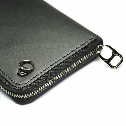 【ジャムホームメイド(JAMHOMEMADE)】4月 誕生石 ラウンドファスナー 二つ折り財布 -LaVish-