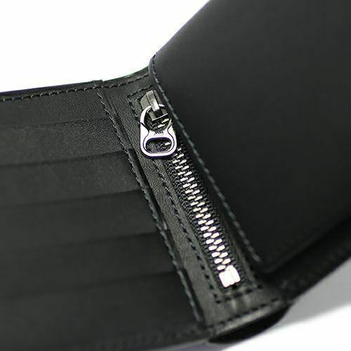 二つ折り財布 / 12月 誕生石 タンザナイトミディアムウォレット -LaVish- メンズ ブランド 人気 おすすめ 牛革 ブラック ヌメ革 シンプル カード たくさん入る ギフト 誕生日 機能性 ビジネス ウォレットチェーン