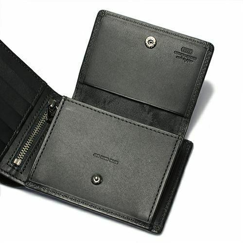 二つ折り財布 / 10月 誕生石 トルマリン ミディアムウォレット -LaVish- メンズ ブランド 人気 おすすめ 牛革 ブラック ヌメ革 シンプル カード たくさん入る ギフト 誕生日 機能性 ビジネス ウォレットチェーン