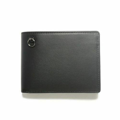 二つ折り財布 / 1月 誕生石 ガーネット ミディアムウォレット -LaVish- メンズ ブランド 人気 おすすめ 牛革 ブラック ヌメ革 シンプル カード たくさん入る ギフト 誕生日 機能性 ビジネス ウォレットチェーン