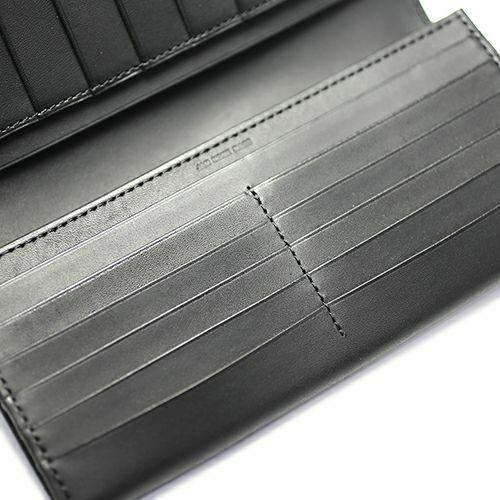 長財布 / 7月 誕生石 ルビー ロングウォレット -LaVish- メンズ レディース ブランド 人気 おすすめ 使い始め 牛革 ブラック ヌメ革 シンプル カード たくさん入る プレゼント ギフト 誕生日 機能性 ウォレットチェーン