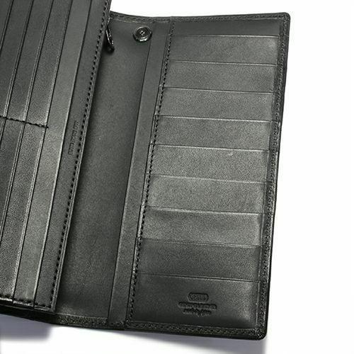 長財布 / 2月 誕生石 アメジスト ロングウォレット -LaVish- メンズ レディース ブランド 人気 おすすめ 使い始め 牛革 ブラック ヌメ革 シンプル カード たくさん入る プレゼント ギフト 誕生日 機能性 ウォレットチェーン