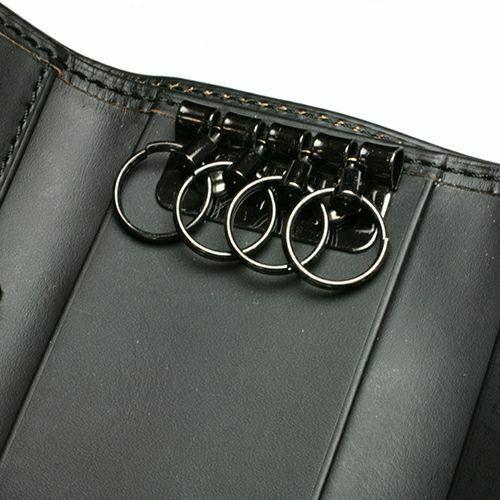 キーケース / BLACK DIAMOND キーケースウォレット -LaVish- メンズ レディース 牛革 ヌメ革 ブラック ブランド おすすめ 日本製 おしゃれ モダン カード 誕生日 プレゼント