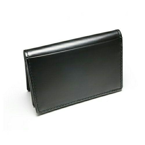 名刺入れ / BLACK DIAMOND カードケース -LaVish- メンズ ブランド 人気 おすすめ 牛革 ブラック ヌメ革 シンプル 名刺入れ たくさん入る プレゼント ギフト 誕生日 機能性 ビジネス