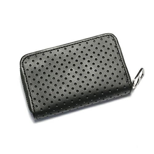 小銭入れ / BLACK DIAMOND パンチングファスナーコインケース -LaVish- メンズ 財布 ブランド 人気 おすすめ 使い始め ヌメ革 レザー/革 ブラック シンプル プレゼント ギフト 誕生日