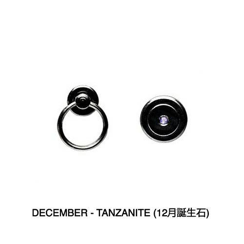 【JAM HOME MADE(ジャムホームメイド)】12月 誕生石 タンザナイト パンチングファスナーコインケース -LaVish- / 小銭入れ メンズ 財布 ブランド 人気 おすすめ 使い始め ヌメ革 レザー/革 ブラック シンプル プレゼント ギフト 誕生日