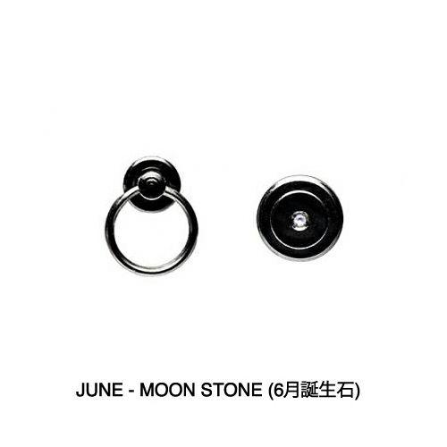【JAM HOME MADE(ジャムホームメイド)】6月 誕生石 ムーンストーン パンチングファスナーコインケース -LaVish- / 小銭入れ メンズ 財布 ブランド 人気 おすすめ 使い始め ヌメ革 レザー/革 ブラック シンプル プレゼント ギフト 誕生日