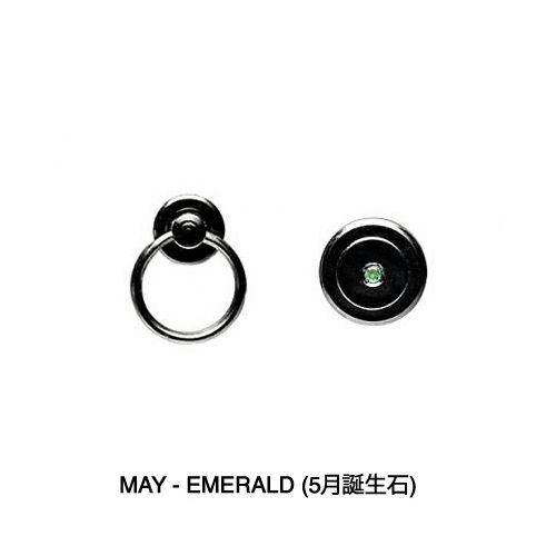 【ジャムホームメイド(JAMHOMEMADE)】5月 誕生石 パンチングファスナーコインケース -LaVish- / 小銭入れ