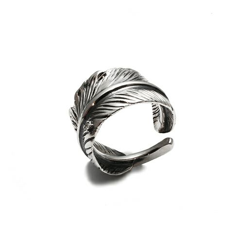 【JAM HOME MADE(ジャムホームメイド)】ダイヤモンドフェザーリング M / 指輪 メンズ シルバー 925 人気 ブランド おすすめ 羽 ネイティブ モダン