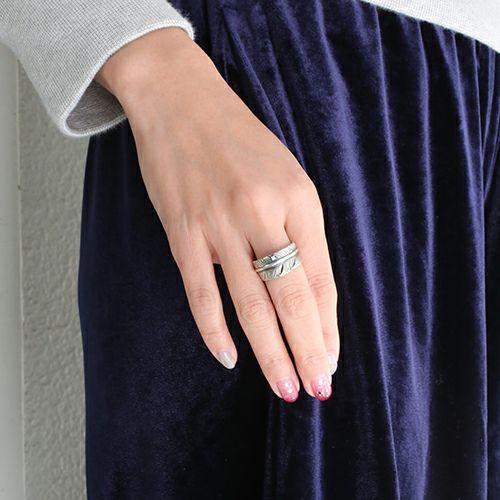 【JAM HOME MADE(ジャムホームメイド)】ダイヤモンドフェザーリング S / 指輪 メンズ レディース シルバー 925 人気 ブランド おすすめ 羽 ネイティブ モダン