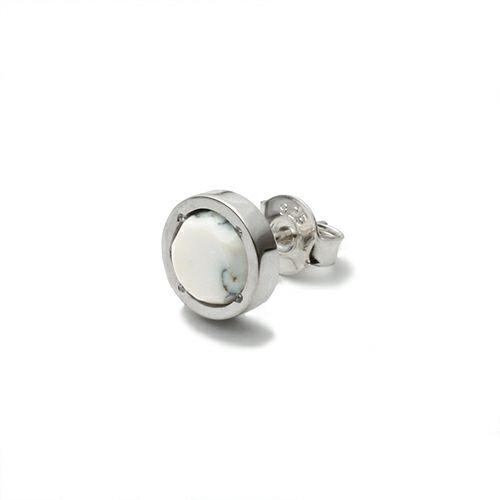 ピアス / ハウライトピアス -SILVER- メンズ シルバー 925 HOWLITE 片耳 シンプル 人気 おすすめ ブランド プレゼント 誕生日 ギフト