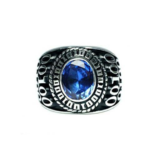 指輪 / 12月 誕生石 0010ハイブリッドカレッジリング M メンズ シルバー 人気 おすすめ ブランド スクールリング 本場 アメリカ 職人 ハンドメイド