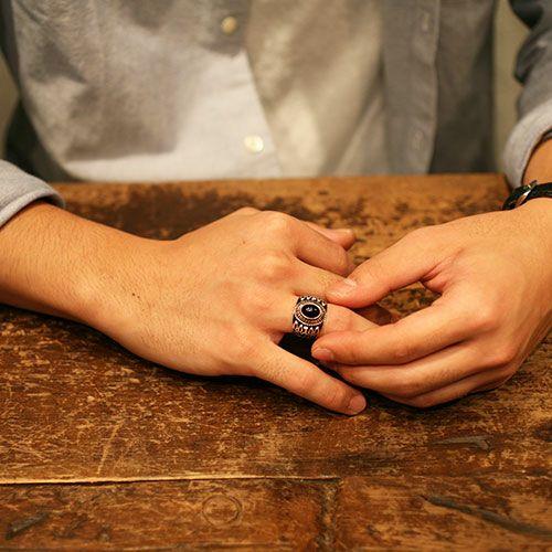 【JAM HOME MADE(ジャムホームメイド)】10月 誕生石 0010ハイブリッドカレッジリング M / 指輪 メンズ シルバー 人気 おすすめ ブランド スクールリング 本場 アメリカ 職人 ハンドメイド