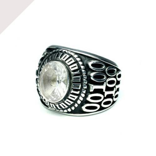 【JAM HOME MADE(ジャムホームメイド)】4月 誕生石 0010ハイブリッドカレッジリング M / 指輪 メンズ シルバー 人気 おすすめ ブランド スクールリング 本場 アメリカ 職人 ハンドメイド