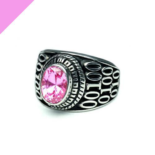 指輪 / 10月 誕生石 0010ハイブリッドカレッジリング S メンズ シルバー 人気 おすすめ ブランド スクールリング 本場 アメリカ 職人 ハンドメイド