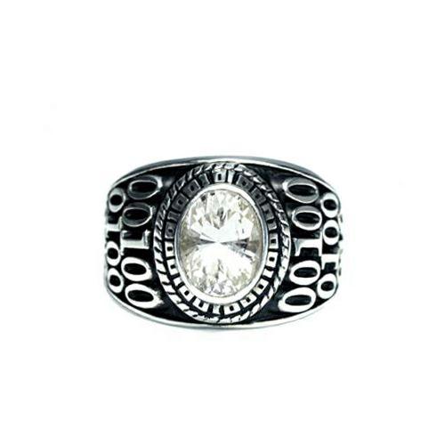 【JAM HOME MADE(ジャムホームメイド)】4月 誕生石 0010ハイブリッドカレッジリング S / 指輪 メンズ シルバー 人気 おすすめ ブランド スクールリング 本場 アメリカ 職人 ハンドメイド
