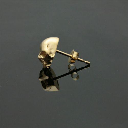 【JAM HOME MADE(ジャムホームメイド)】レボリューションスカルピアス -K18 YELLOW GOLD- メンズ ゴールド 片耳 シンプル 人気 おすすめ ブランド プレゼント 誕生日 ギフト ドクロ