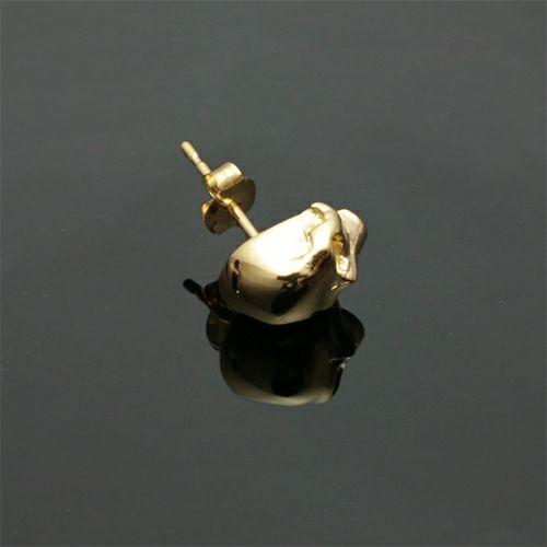 レボリューションスカルピアス -K18 YELLOW GOLD- / 片耳