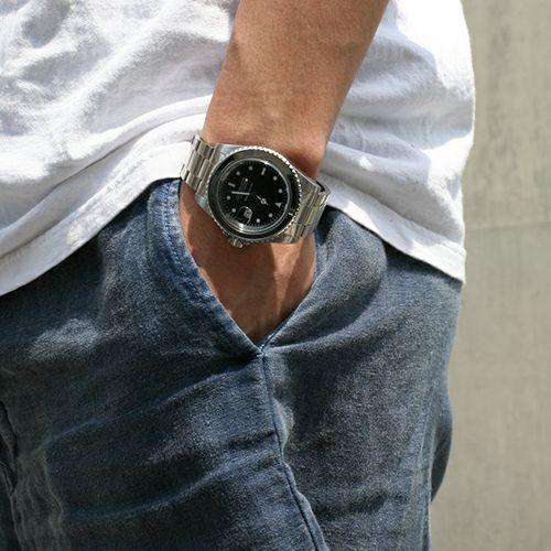 【JAM HOME MADE(ジャムホームメイド)】ジャムダイヤモンドウォッチ -SILVER- / 腕時計  メンズ シルバー ダイヤモンド クォーツ 10気圧 アナログ 日付表示 生活防水