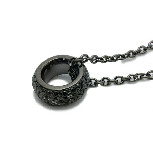 ラウンドダイヤモンドスターネックレス -BLACK-