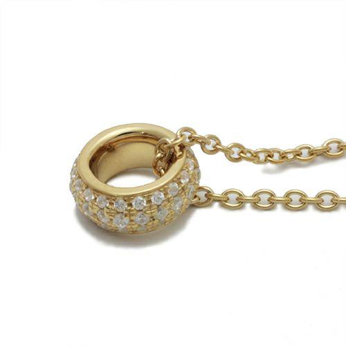 ラウンドダイヤモンドスターネックレス -GOLD-