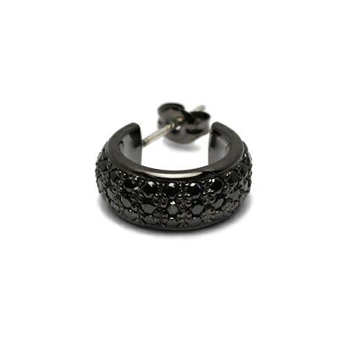 ピアス / ラウンドダイヤモンドスターピアス -BLACK- メンズ レディース シルバー ブラック 925 片耳 シンプル 人気 おすすめ ブランド プレゼント 誕生日 ギフト