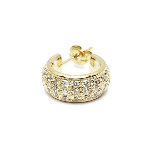 【JAM HOME MADE(ジャムホームメイド)】ラウンドダイヤモンドスターピアス -GOLD- メンズ レディース シルバー ゴールド 925 片耳 シンプル 人気 おすすめ ブランド プレゼント 誕生日 ギフト