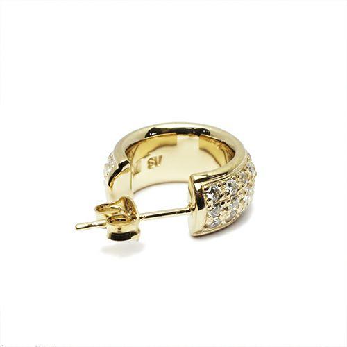 ピアス / ラウンドダイヤモンドスターピアス -GOLD- メンズ レディース シルバー ゴールド 925 片耳 シンプル 人気 おすすめ ブランド プレゼント 誕生日 ギフト