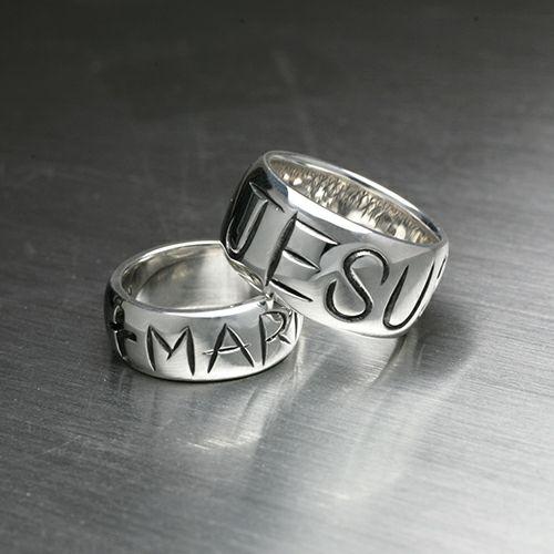 【ジャムホームメイド(JAMHOMEMADE)】ジーザス & マリア リング -JESUS- / 指輪