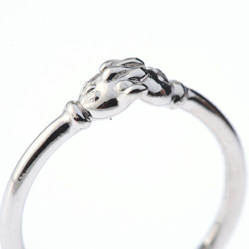 """ミッキー&ミニー """"MICKEY & MINNIE"""" シェイクハンドマリッジリング S -K18 WG- / 結婚指輪・マリッジリング"""