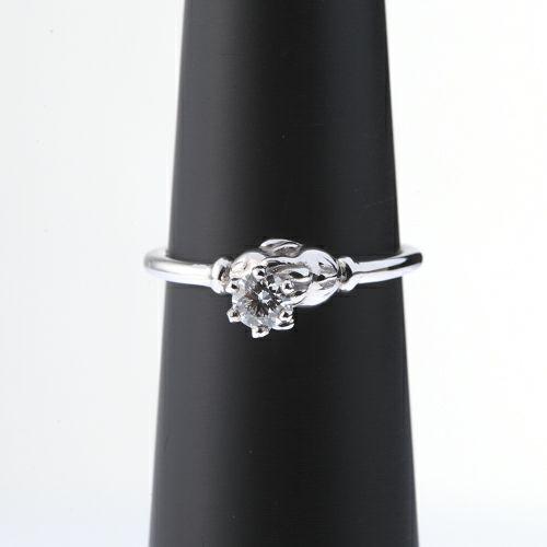 【ジャムホームメイド(JAMHOMEMADE)】ミッキー & ミニー シェイクハンド エンンゲージリング -K18WG- / 婚約指輪・エンゲージリング