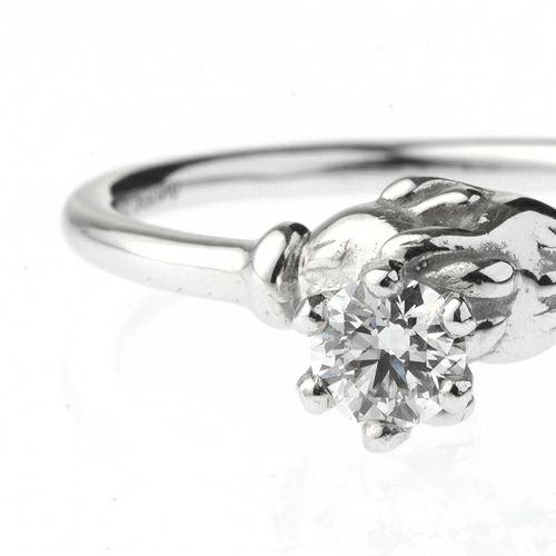 【ジャムホームメイド(JAMHOMEMADE)】ミッキー & ミニー シェイクハンド エンンゲージリング -PT900- / 婚約指輪・エンゲージリング