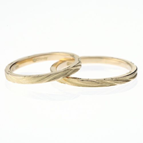 """結婚指輪・マリッジリング ウエディングリング / ラプンツェル - """"Tangled"""" マリッジリング M"""