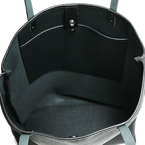 【JAM HOME MADE(ジャムホームメイド)】ブラックライドバーティカルトートバッグ メンズ レディース ユニセックス レザー ブラック 肩掛け シンプル