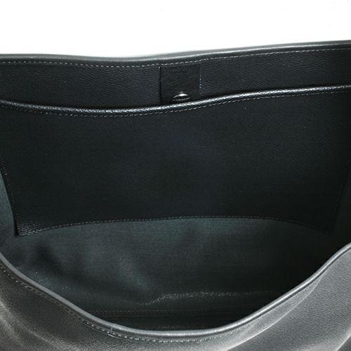 旅行用カバン / ブラックライドショルダートートバッグ メンズ レディース ユニセックス レザー ブラック 肩掛け シンプル