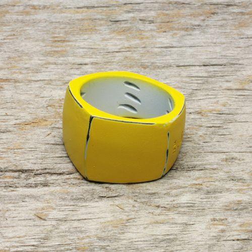 【JAM HOME MADE(ジャムホームメイド)】そんなバナナスライスリング LM -YELLOW- / 指輪 メンズ レディース シルバー 925 黄色 人気 おすすめ ブランド ペア シンプル 太め 幅 ダイヤモンド