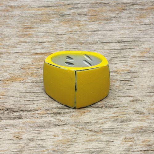 【JAM HOME MADE(ジャムホームメイド)】そんなバナナスライスリング LS -YELLOW- / 指輪 メンズ レディース シルバー 925 黄色 人気 おすすめ ブランド ペア シンプル 太め 幅 ダイヤモンド