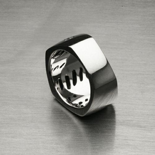 【JAM HOME MADE(ジャムホームメイド)】そんなバナナスライスリング LS / 指輪 メンズ レディース シルバー 925 人気 おすすめ ブランド ペア シンプル 太め 幅 ダイヤモンド